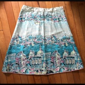 Vintage Anthropologie Venice A-Line Skirt